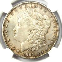 1898-S MORGAN SILVER DOLLAR $1 COIN - CERTIFIED NGC AU DETAILS -  DATE