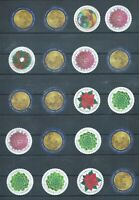 USA POSTAGE STAMPS FACE VALUE 20X GLOBAL FOREVER NO GUM OFF