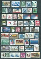 USA POSTAGE STAMPS WITH FLAWS $44.51 NO GUM