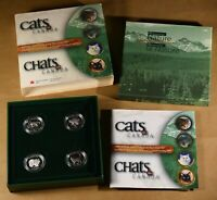 1999 CATS OF CANADA STERLING SILVER 50 CENT 4 COIN PROOF SET