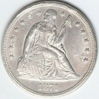 1871 SEATED LIBERTY SILVER DOLLAR /T21