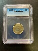 1929 S BUFFALO NICKEL ICG MINT STATE 64 - UNCIRCULATED - FULL HORN - CERTIFIED SLAB - 5C