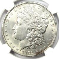 1901 MORGAN SILVER DOLLAR $1 COIN 1901-P - NGC AU58 -  DATE - LOOKS MS UNC