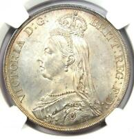 1887 BRITAIN ENGLAND UK VICTORIA CROWN COIN   CERTIFIED NGC MS63  CHOICE BU UNC