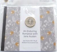 2017 ROYAL MINT JANE AUSTEN BU 2 TWO POUND COIN PACK SEALED UNCIRCULATED