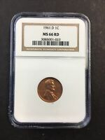 NGC 1961 D MS66RD LINCOLN MEMORIAL PENNY BALANCE BANNER  CLE