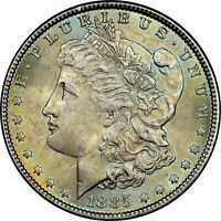 1885-P USA MORGAN SILVER DOLLAR NGC MINT STATE 63 GREAT NORTHWEST COLLECTION VAM-1L DR