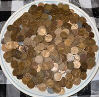 LINCOLN WHEAT CENT PENNY LOT  1100 COINS 5 DECADES      EXAC