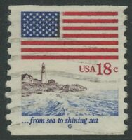1891 18C 1981 FLAG ISSUE USED SINGLE WITH PLATE 6  CV $675 HV993