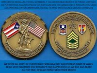 GUARDIA NACIONAL PUERTO RICO CHALLENGE COIN NATIONAL GUARD MASON KNIGHTS TEMPLAR