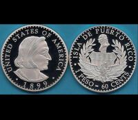 1899 BARBER PATTERN FOR PUERTO RICO 60 CENT PATRON SILVER PESO 1/200 MADE MORGAN
