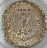 1897-O MORGAN SILVER DOLLAR COIN, ANACS AU-55 DETAILS - CLEANED, TONED COIN