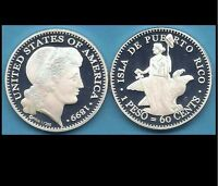 1899 MORGAN PATTERN FOR PUERTO RICO 60 CENT PATRON SILVER PESO 1/200 MADE