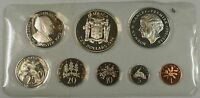 1974 JAMAICA 8 COIN PROOF SET .925 SILVER $10 AND $5 COIN FRANKLIN MINT  NO BOX