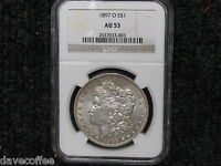 1897 O MORGAN-A HARDER DATE-NGC CERTIFIED AU 53 - WITH SHIPS FREE
