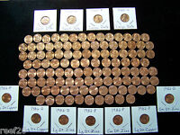 1959 2019 LINCOLN MEMORIAL BU CENT SET WITH ALL 7  1982'S & 1960 P D SM. DATES