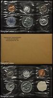 1963 PROOF SET WITH COA   FLAT PACK ORIGINAL ENVELOPE   US SILVER MINT COIN SET