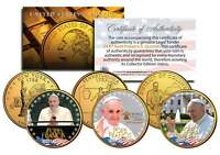 POPE FRANCIS  2015 U.S. VISIT  24K GOLD PLATED QUARTERS 3 COIN SET PHILADELPHIA
