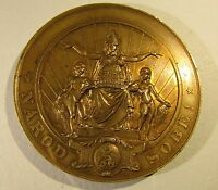 1883 BOHEMIA NATIONAL THEATER IN PRAGUE BRONZE MEDAL CZECHOSLOVAKIA CZECH PRAG