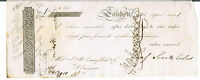 SIGHT NOTE J. & W CAMPBELL & CO CANDLERIGGS GLASGOW 1826 THREE MONTHS 64 18S