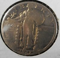 1927 STANDING LIBERTY QUARTER  GOOD CONDITION Q515