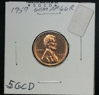 1957 WHEAT CENT PF RED