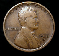 1913-S LINCOLN WHEAT CENT PENNY  COIN WP440