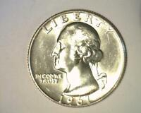 1961 D  WASHINGTON QUARTER 25C GEM BRILLIANT UNCIRCULATED   351172