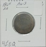 1864 TWO CENT AG