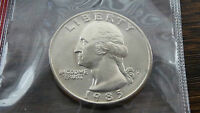 1985 D WASHINGTON QUARTER IN MINT CELLO    J 7 15