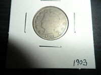 U.S. 1903 P-  LIBERTY NICKEL - AMERICAN FIVE CENT COIN  HAVE A LOOK