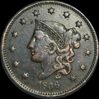 1836 LARGE CENT US TYPE COIN NICE COIN D 1449
