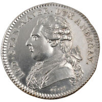 FRANCE ROYAL TOKEN 1784 MS60 62 SILVER FEUARDENT 8451 9.68