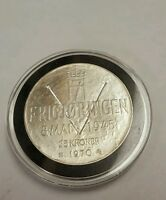 1970 NORWAY 25 KRONER SILVER GEM UNCIRCULATED