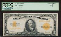 AC FR 1173 1922 $10 GOLD CERTIFICATE PCGS 40