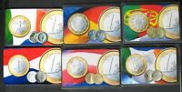CALLING CARD EURO COINS 6X USED 1700EX