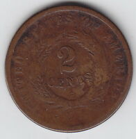 1864 USA - UNITED STATES - 2 CENTS COIN LARGE MOTTO G-5