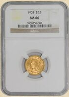 1903 $2 1/2 GOLD LIBERTY MS66 NGC