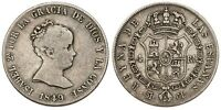 SPANISH SILVER  4 REAL 1849 MADRID CL  ISABEL II  CAL 296  SPAIN  C3098