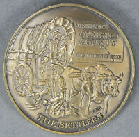 AMERICAN REVOLUTION BICENTENNIAL 1776 1976 OLMSTED COUNTY MN THE SETTLERS MEDAL