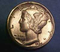 1934 D MERCURY DIME  CHOICE UNCIRCULATED  NICE SWIRLING LUSTER MAKE AN OFFER