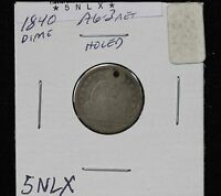 1840 SEATED DIME AG