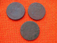 RUSSIA RUSSIAN EMPIRE COPPER LOT OF 3 1741 ETC. DENGA KOPEK KOPECK COIN NR 1315