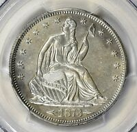 1873 S ARROWS LIBERTY SEATED HALF DOLLAR PCGS AU DETAILS LIGHTLY CLEANED