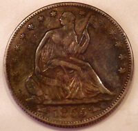 1855/4 SEATED LIBERTY HALF DOLLAR ARROWS AU COIN
