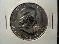 1957 PROOF FRANKLIN HALF DOLLAR PQ UNC CHOICE BU GEM