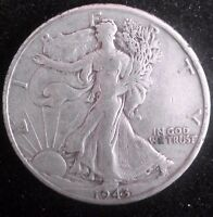 1943 -D   WALKING LIBERTY HALF DOLLAR  90 SILVER COIN    52