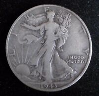 1943 D  WALKING LIBERTY HALF DOLLAR  90 SILVER COIN  310