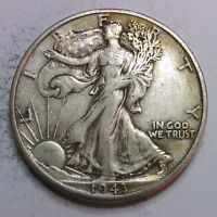 1943 D WALKING LIBERTY HALF DOLLARS  90 SILVER COIN    822