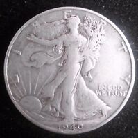 1940 S WALKING LIBERTY HALF DOLLARS  90 SILVER COIN    559